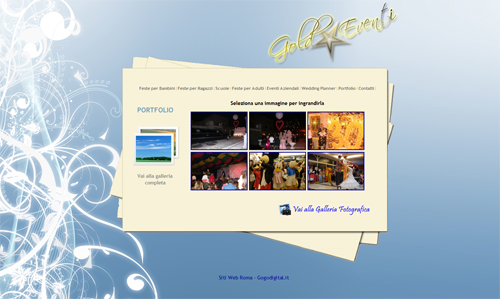 Gold Events - Company specialized in organizing parties and events in Rome