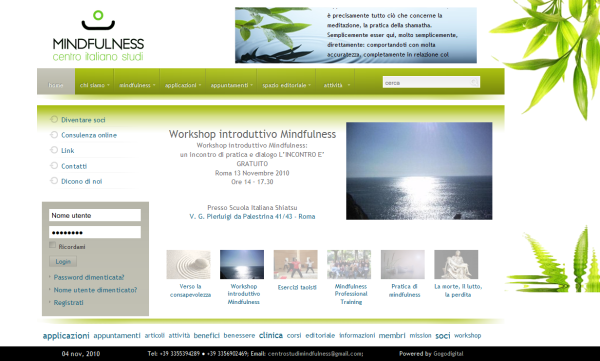 Italian Center for Mindfulness - MBSR and MBCT against stress, anxiety, panic and depression