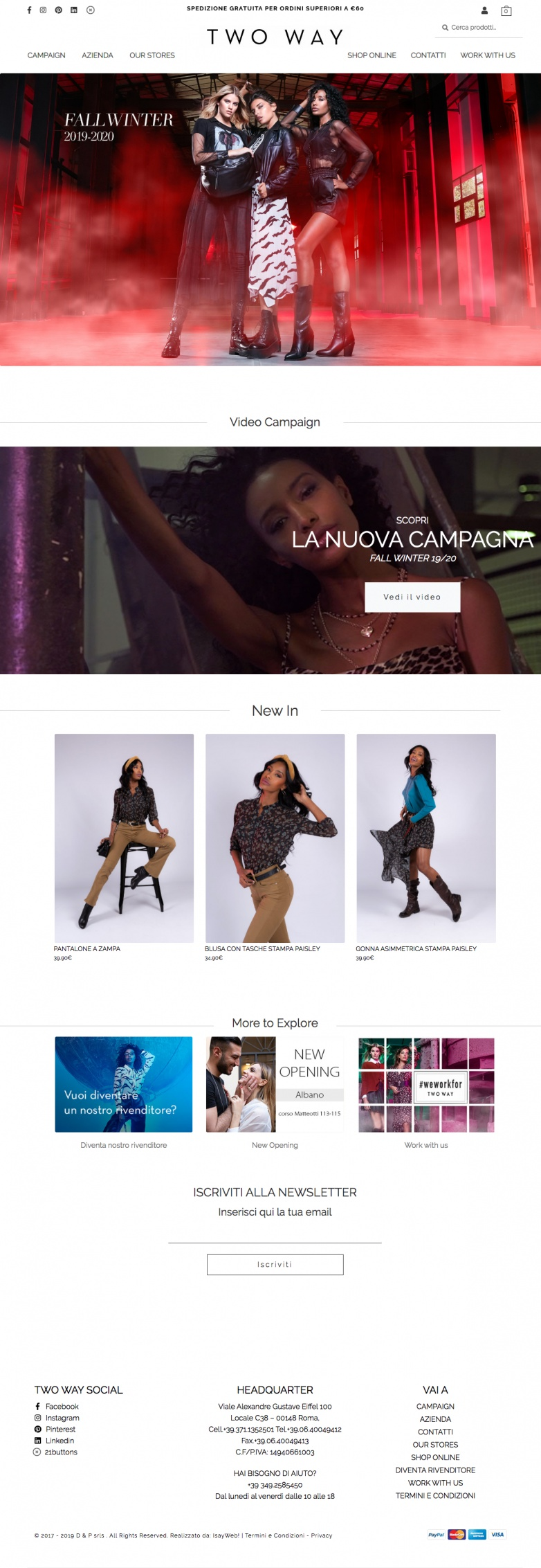 Two way restyling sito web